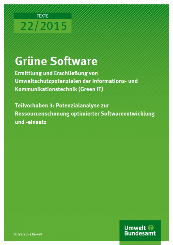 Cover Texte 22/2015 Grüne Software