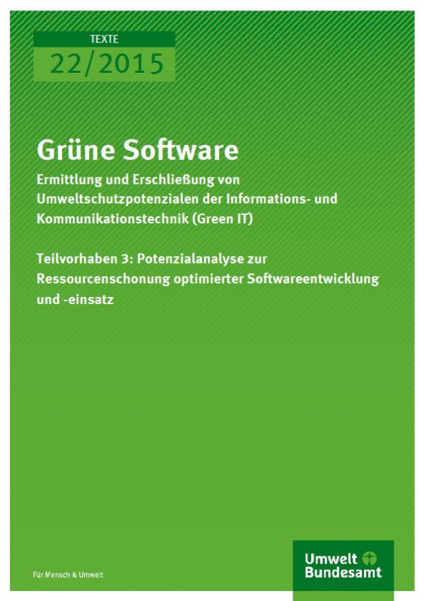 Cover Texte 22/2015 Grüne Software