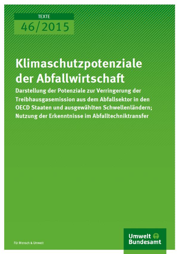 Cover Texte 46/2015 Klimaschutzpotenziale der Abfallwirtschaft