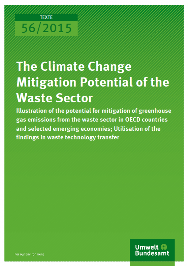 Cover Texte 56/2015 The Climate Change Mitigation Potential of the Waste Sector