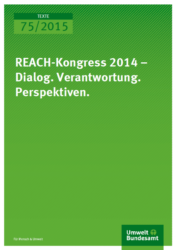 Cover Texte 75/2015 REACH-Kongress 2014