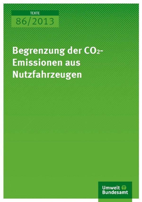 Cover Texte 86/2013 Begrenzung der CO2-Emissionen aus Nutzfahrzeugen