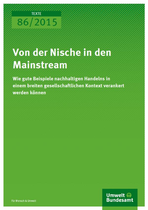 Cover Texte 86/2015 Von der Nische in den Mainstream