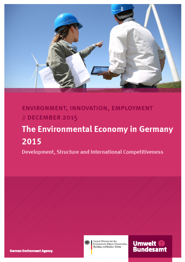 Cover The Environmental Economy in Germany 2015