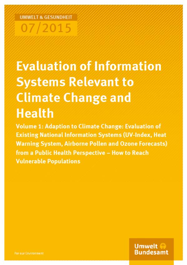 Cover Umwelt und Gesundheit 07/2015