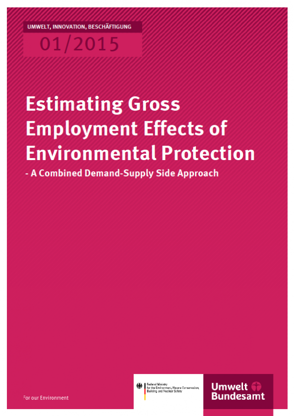 Cover UIB 01/2015 Estimating Gross Employment Effects of Environmental Protection