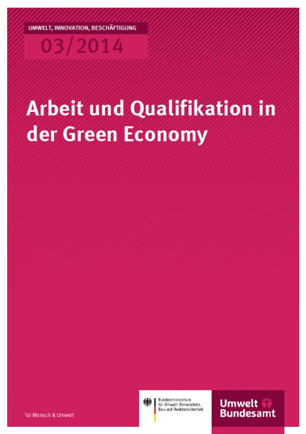 Cover UIB 03/2014 Arbeit und Qualifikation in der Green Economy