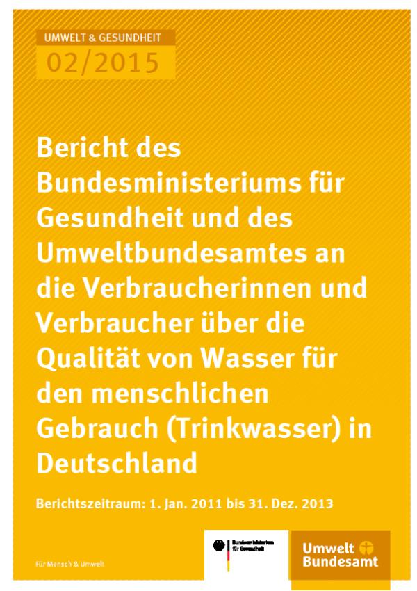 Cover Umwelt und Gesundheit 02/2015 Trinkwasserbericht