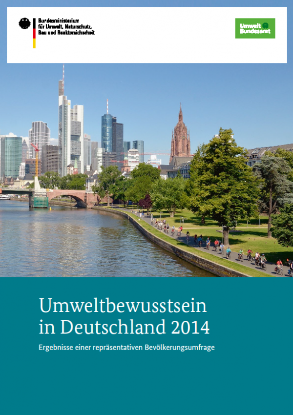 Cover Umweltbewusstsein in Deutschland 2014