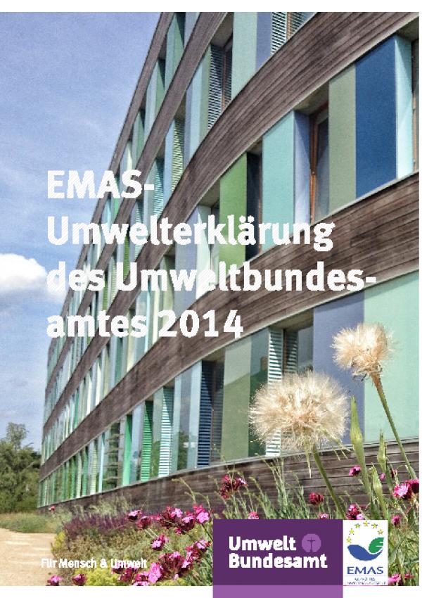 Cover EMAS- Umwelterklärung 2014