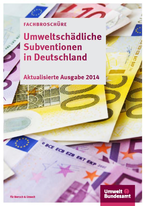 Cover Umweltschädliche Subventionen in Deutschland 2014