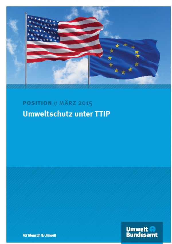 Cover Umweltschutz unter TTIP