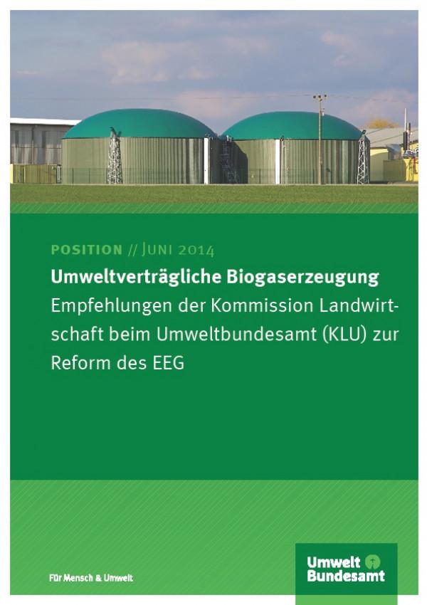 Cover Umweltverträgliche Biogaserzeugung