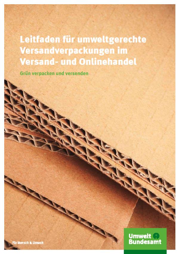 Cover Leitfaden für umweltgerechte Versandverpackungen