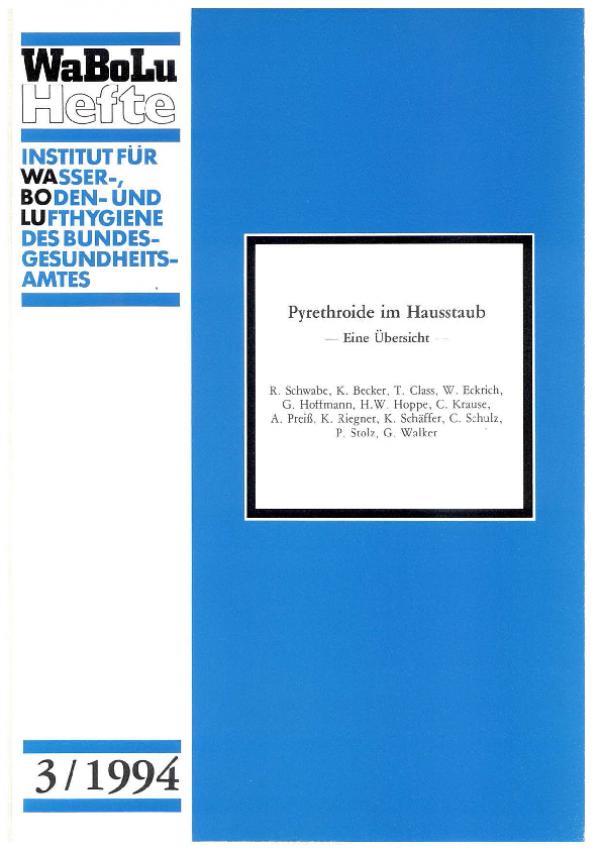 Cover WaBoLu 3/1994 Pyrethroide im Hausstaub