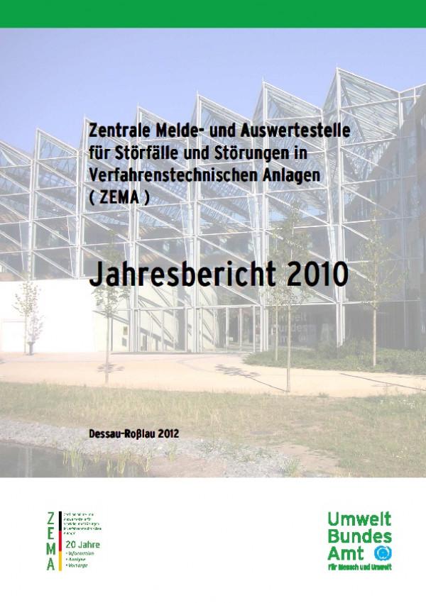 Cover ZEMA-Jahresbericht 2010