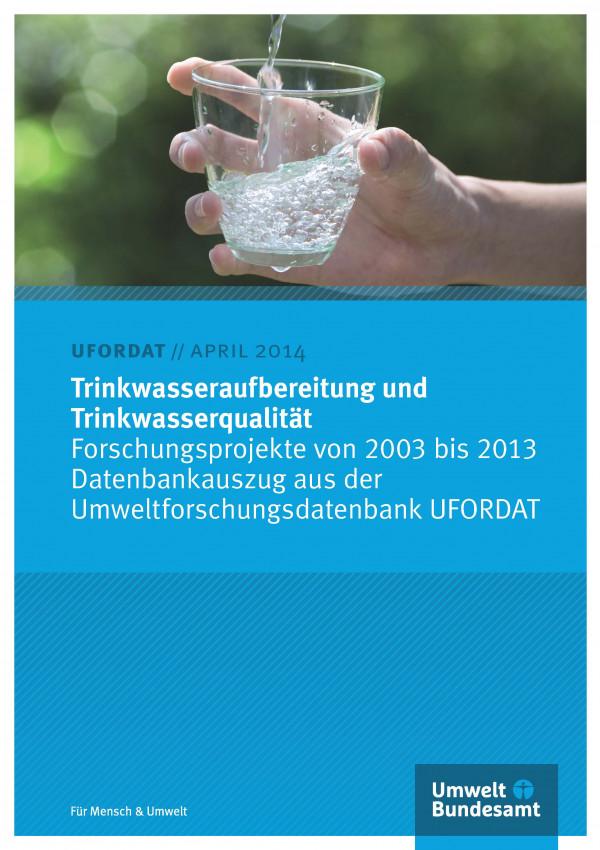 Cover Trinkwasseraufbereitung und Trinkwasserqualität