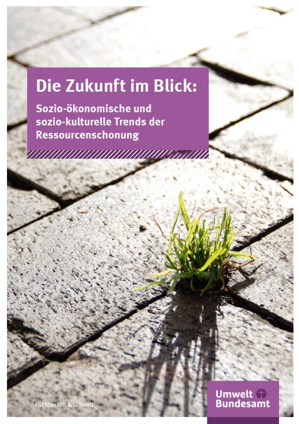 Die Zukunft im Blick: Sozio-ökonomische und sozio-kulturelle Trends der Ressourcenschonung