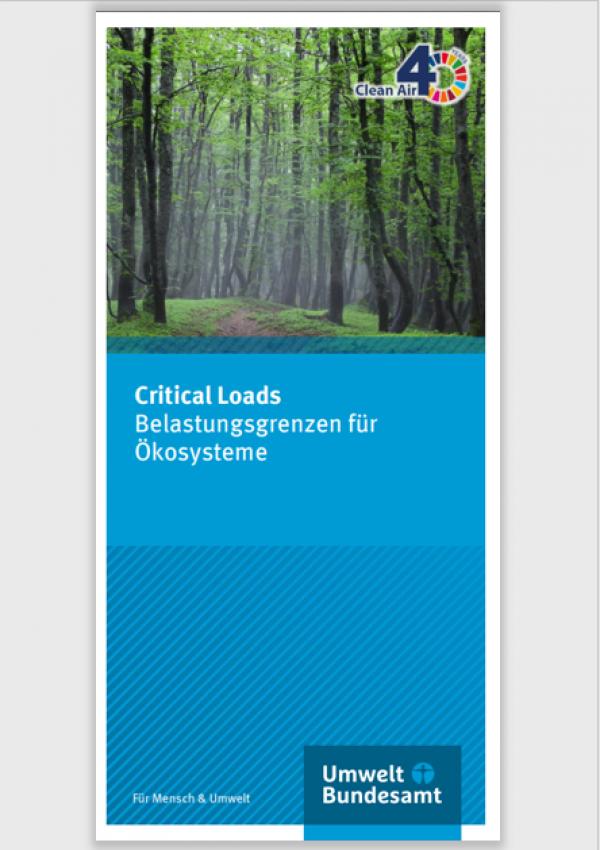 Critical Loads. Belastungsgrenzen für Ökosysteme