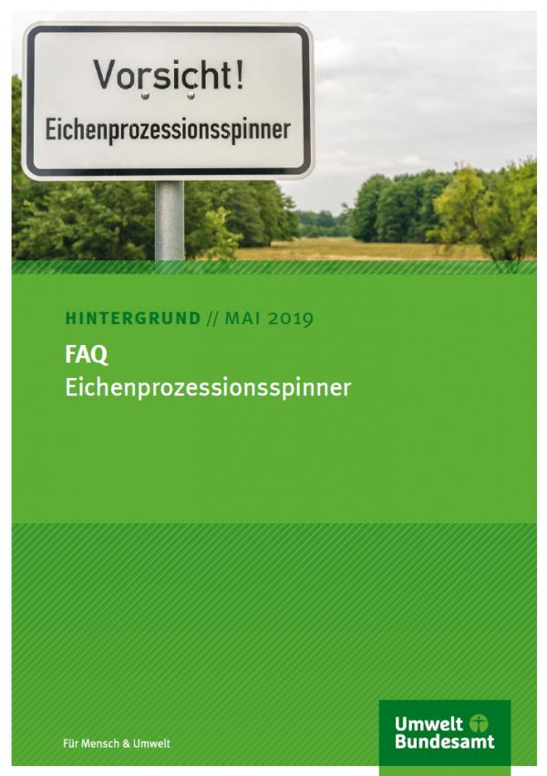 Cover FAQ Eichenprozessionsspinner