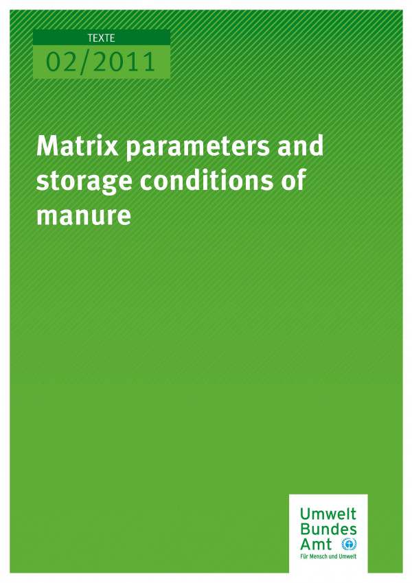 Publikation:Matrix parameters and storage conditions of manure
