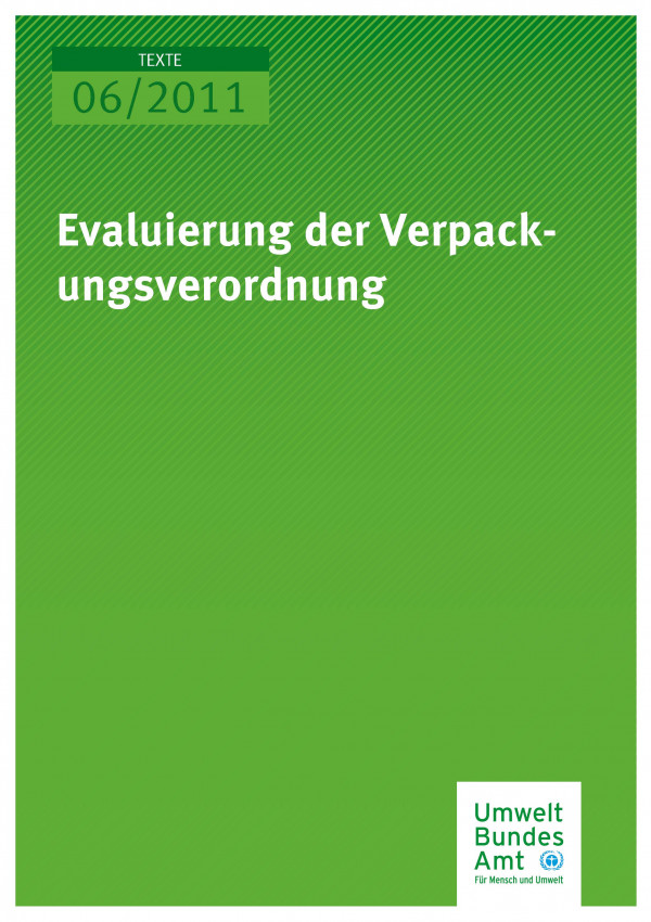 Publikation:Evaluierung der Verpackungsverordnung