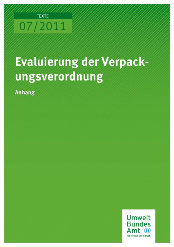 Publikation:Evaluierung der Verpackungsverordnung (Anhang)