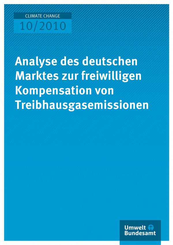 Publikation:Analyse des deutschen Marktes zur freiwilligen Kompensation von Treibhausgasemissionen