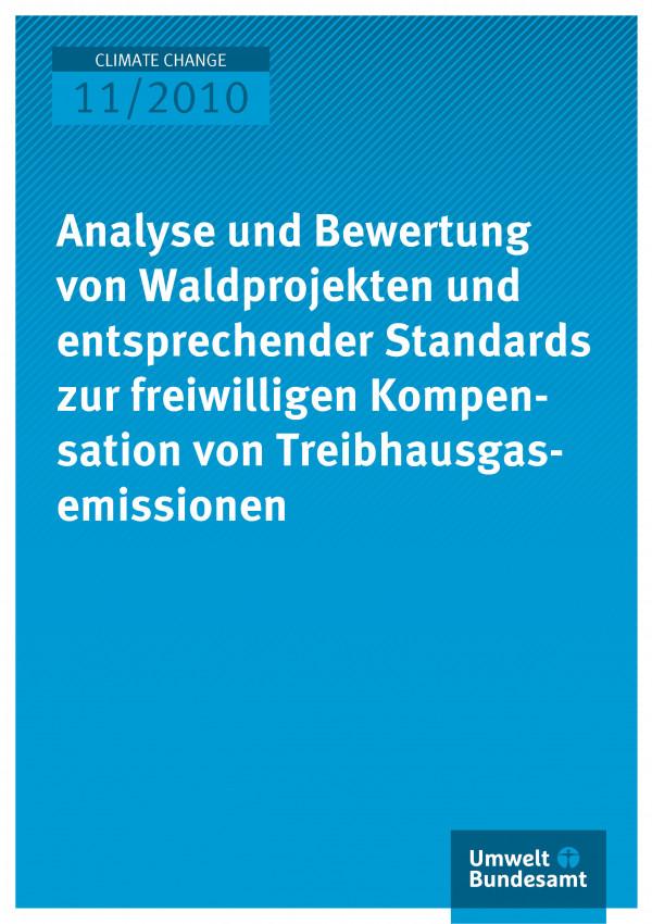 Publikation:Analyse und Bewertung von Waldprojekten und entsprechender Standards zur freiwilligen Kompensation von Treibhausgasemissionen