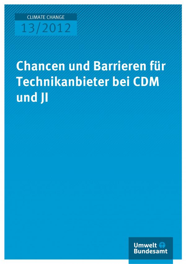 Publikation:Chancen und Barrieren für Technikanbieter bei CDM und JI