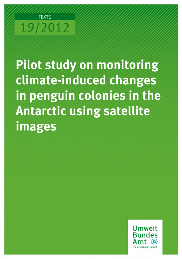 Publikation:Pilot study on monitoring climate-induced changes in penguin colonies in the Antarctic using satellite images