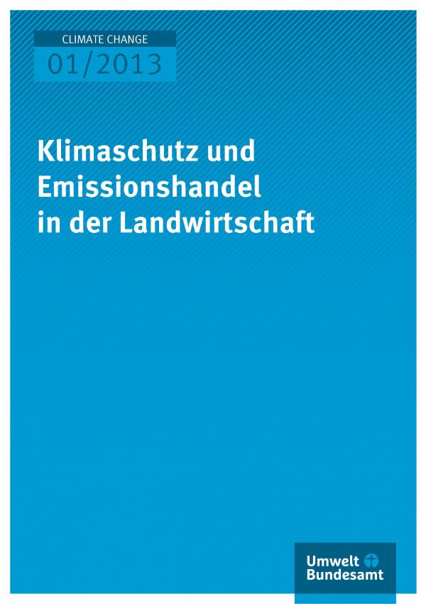 Publikation:Klimaschutz und Emissionshandel in der Landwirtschaft