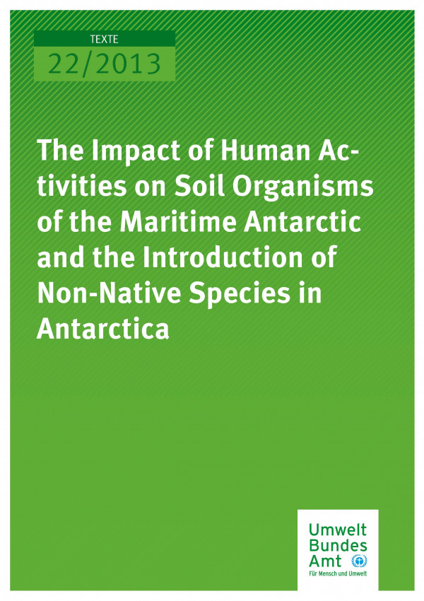 Publikation:The Impact of Human Activities on Soil Organisms of the Maritime Antarctic and the Introduction of Non-Native Species in Antarctica