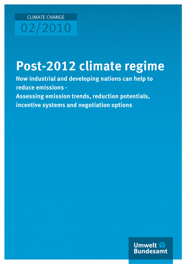 Publikation:Post-2012 climate regime - How industrial and developing nations can help to reduce emissions - assessing emission trends, reduction potentials, incentive systems and negotiation options