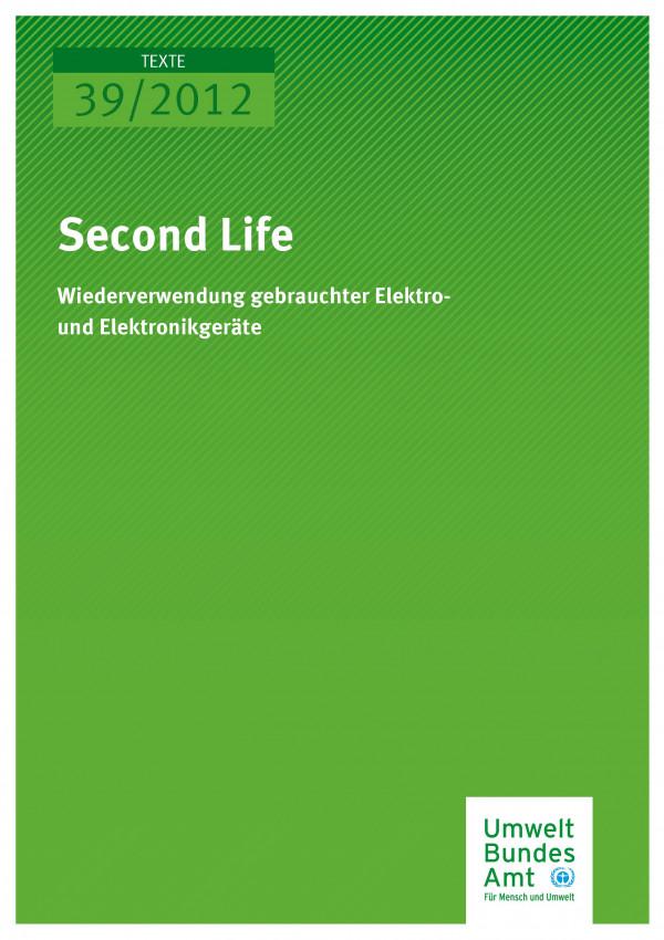Publikation:Second Life - Wiederverwendung gebrauchter Elektro- und Elektronikgeräte