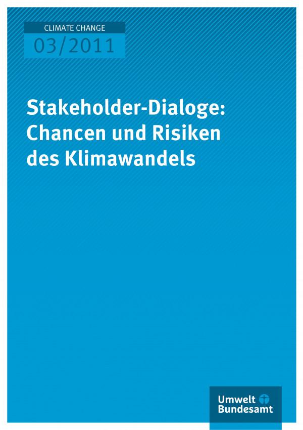 Publikation:Stakeholder-Dialoge: Chancen und Risiken des Klimawandels