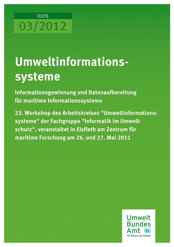 Publikation:Umweltinformationssysteme - Informationsgewinnung und Datenaufbereitung für maritime Informationssysteme