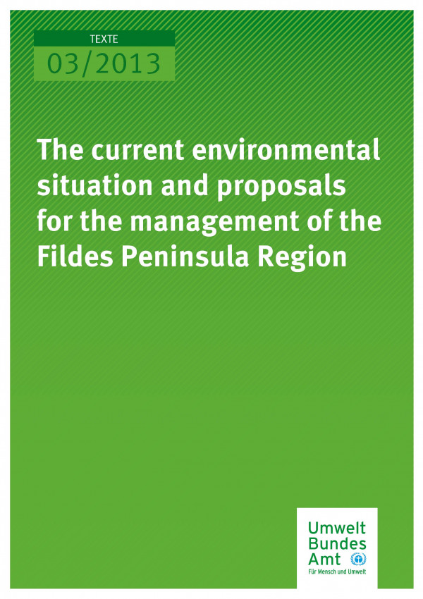 Publikation:The current environmental situation and proposals for the management of the Fildes Peninsula Region