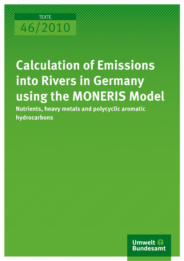 Calculation Of Emissions Into Rivers In Germany Using The MONERIS - Rivers in germany
