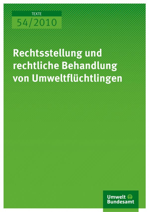 Publikation:Rechtsstellung und rechtliche Behandlung von Umweltflüchtlingen