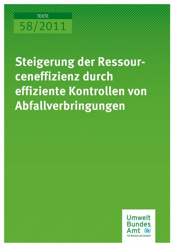 Publikation:Steigerung der Ressourceneffizienz durch effiziente Kontrollen von Abfallverbringungen