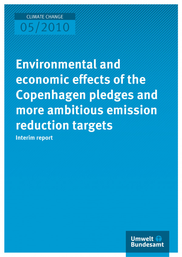 Publikation:Environmental and economic effects of the Copenhagen pledges and more ambitious emission reduction targets