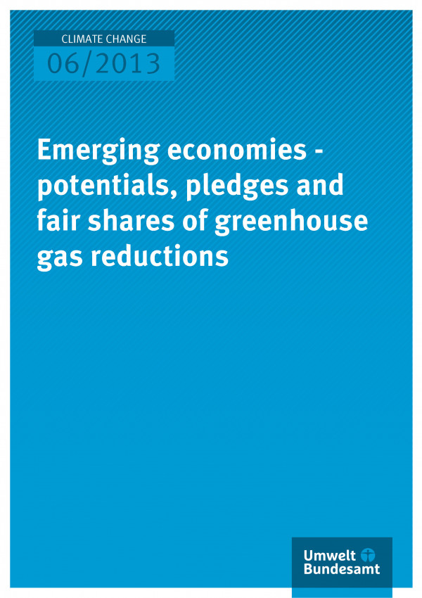Publikation:Emerging economies - potentials, pledges and fair shares of greenhouse gas reduction