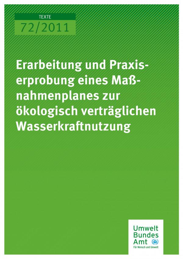 Publikation:Erarbeitung und Praxiserprobung eines Maßnahmenplanes zur ökologisch verträglichen Wasserkraftnutzung