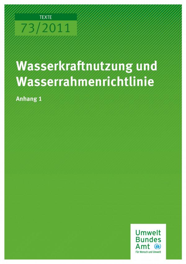 Publikation:Erarbeitung und Praxiserprobung eines Maßnahmenplanes zur ökologisch verträglichen Wasserkraftnutzung - Anhang 1
