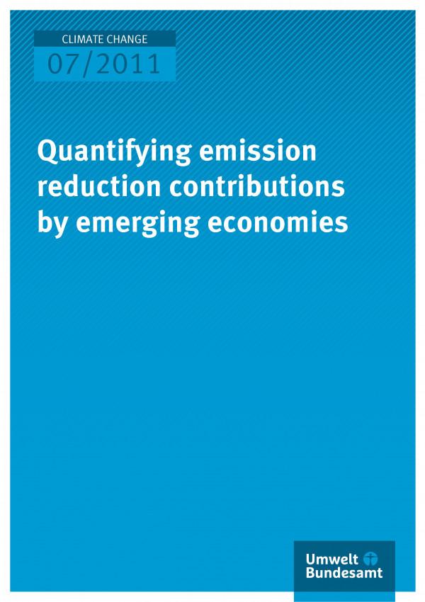 Publikation:Quantifying emission reduction contributions by emerging economies