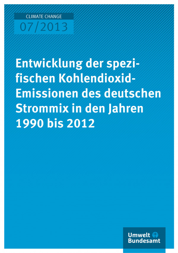 Cover der Publikation Climate Change 7/2013