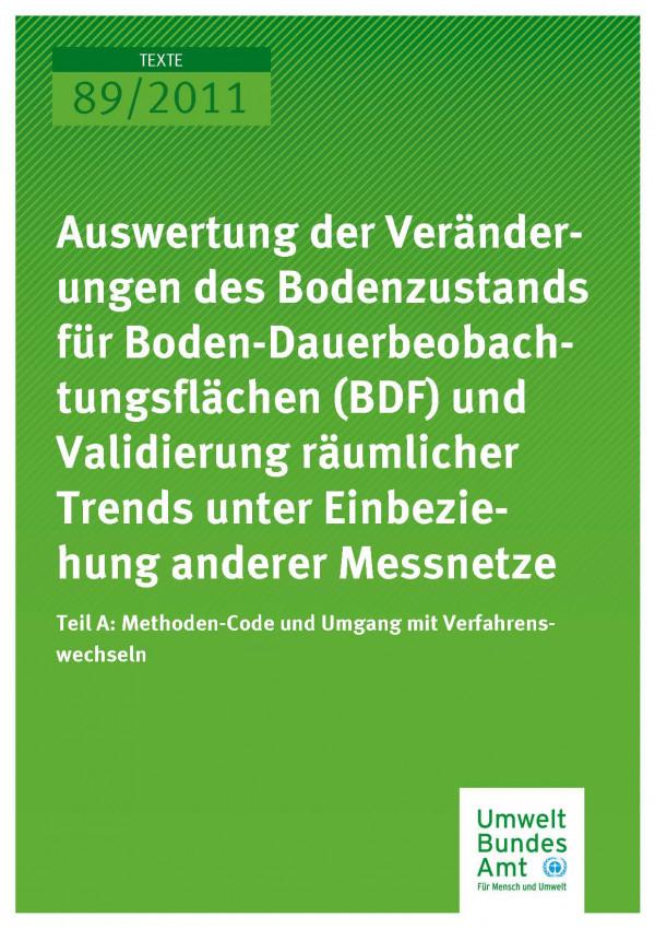 Publikation:Auswertung der Veränderungen des Bodenzustands Teil A: Methoden-Code