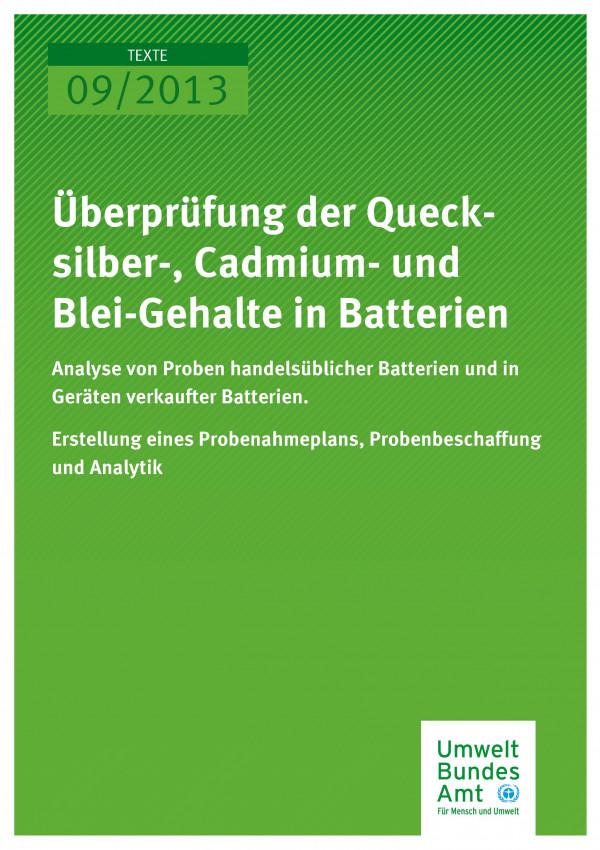 Publikation:Überprüfung der Quecksilber-, Cadmium- und Blei-Gehalte in Batterien