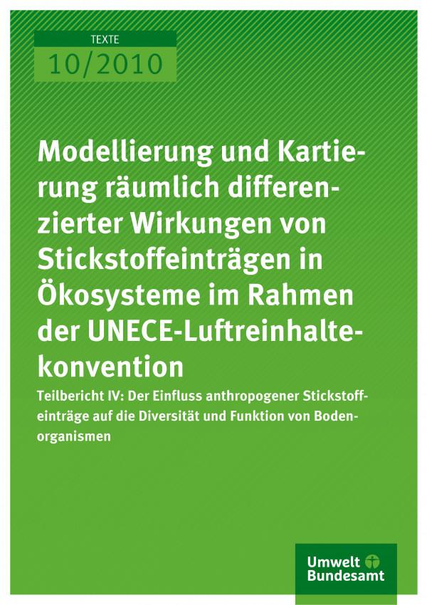 Modellierung und Kartierung räumlich differenzierter Wirkungen von ...